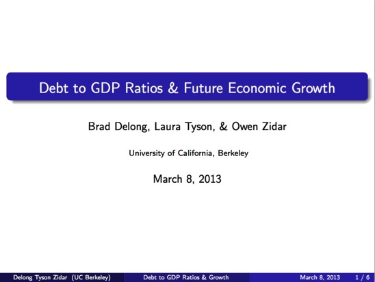 Debt to GDP Ratio and Future Economic Growth pdf page 1 of 6