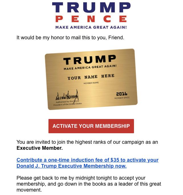 Grifters Gotta Grift...: Trump Campaign