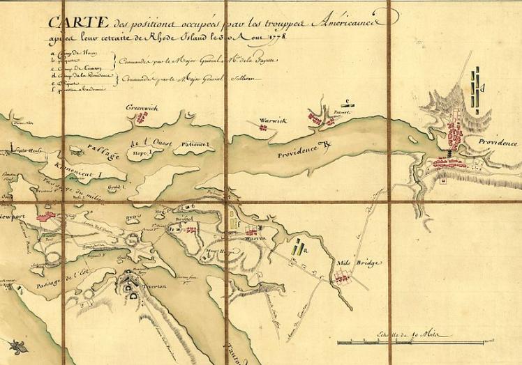 Rhode island map Battle of Rhode Island Wikipedia the free encyclopedia