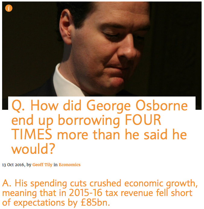 Q How did George Osborne end up borrowing FOUR TIMES more than he said he would