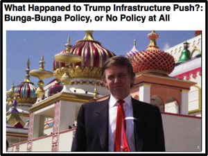 Cursor and Preview of What Happaned to Trump Infrastructure Push Bunga Bunga Policy or No Policy at All
