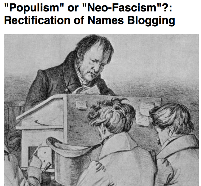 Preview of Populism or Neo Fascism Rectification of Names Blogging