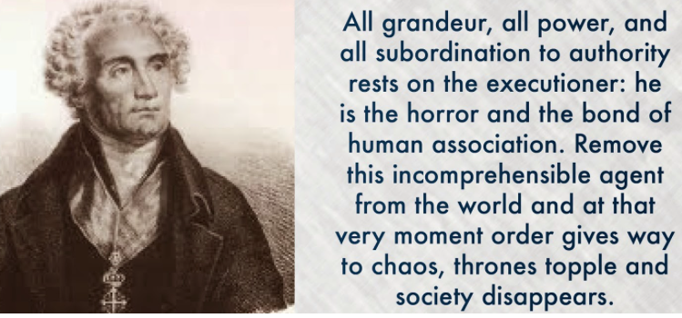 De Maistre the executioner