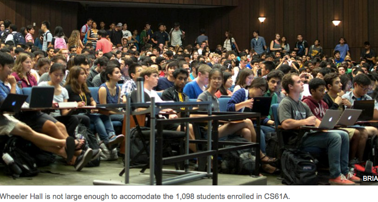 Increased CS course demand leads to overflowing auditorium The Daily Californian