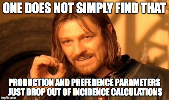 One does not simply... incidence