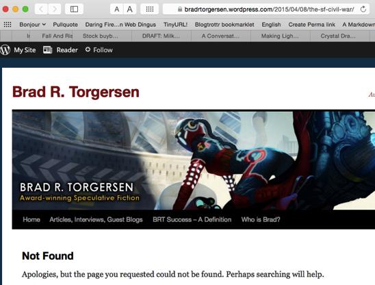 Page not found Brad R Torgersen