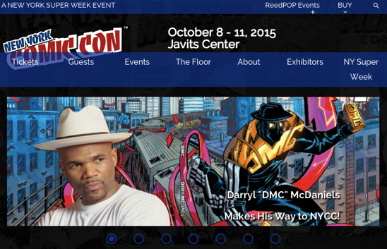 New York Comic Con the biggest and most exciting popular culture convention on the East Coast New York Comic Con October 8 11 2015 Javits Center