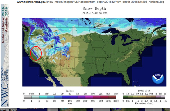 Nsm depth 2015121205 National jpg 801×458 pixels and National Snow Analyses NOHRSC The ultimate source for snow information and Main Window