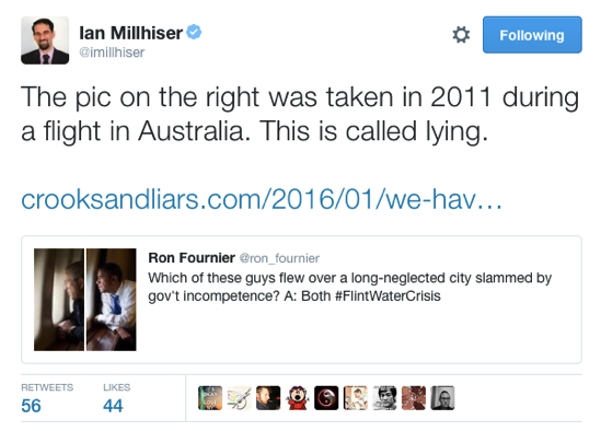 Ian Millhiser on Twitter The pic on the right was taken in 2011 during a flight in Australia This is called lying https t co XHqIJkNwwb https t co cb4IN5XzxE