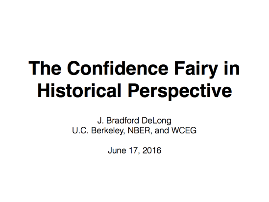 Slides for: The Confidence Fairy in Historical Perspective