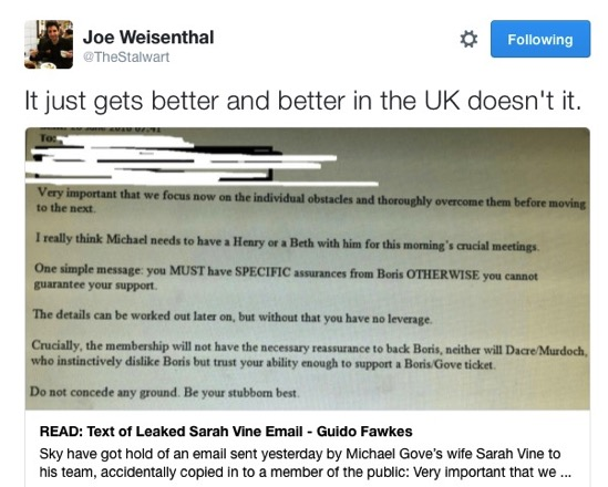 Joe Weisenthal on Twitter It just gets better and better in the UK doesn t it https t co FH9bhhReOZ