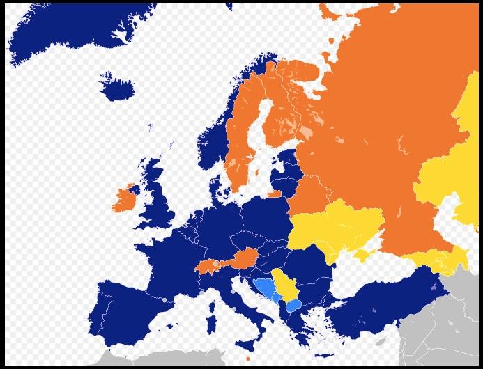 Major NATO affiliations in Europe NATO Wikipedia the free encyclopedia
