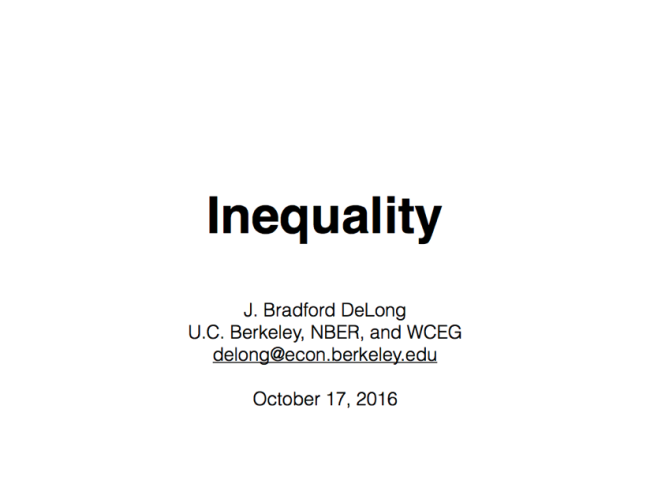 Inequality: Brown University Janus Forum