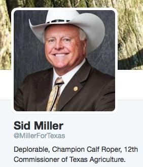 Sid Miller MillerForTexas Twitter
