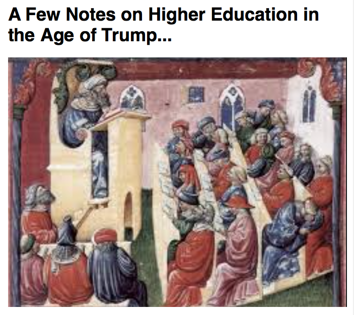 Preview of A Few Notes on Higher Education in the Age of Trump