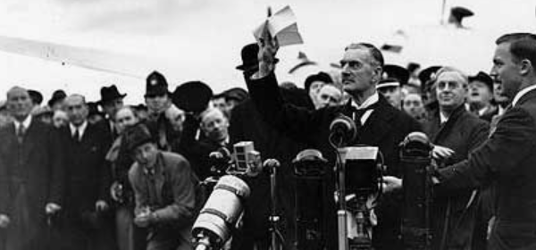 Neville Chamberlain Peace in Our Time