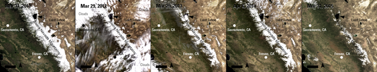 Observing Drought in California with Remote Sensing LP DAAC NASA Land Data Products and Services