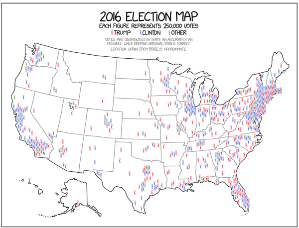 Xkcd 2016 Election Map