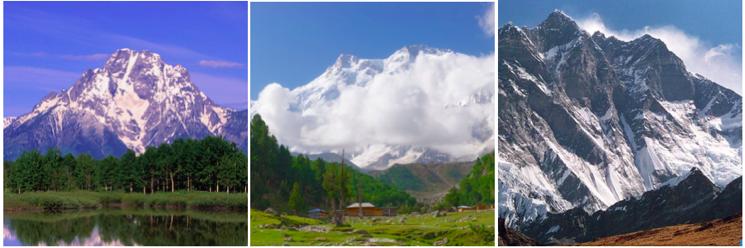 Grand Teton, Nanga Parbat, Lhotse