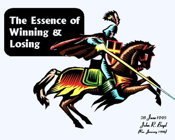 The d n i echo The Essence of Winning and Losing by John R Boyd