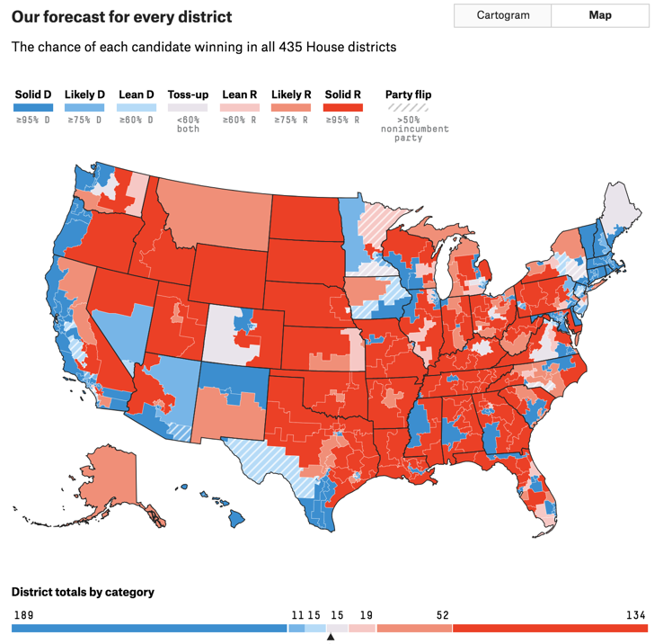2018 House Forecast FiveThirtyEight