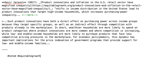 Xavir Jaravel (2017): Product innovations and inflation in the U.S. retail sector have magnified inequality