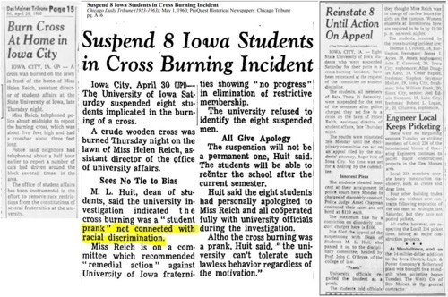 Ic cross burning 1960