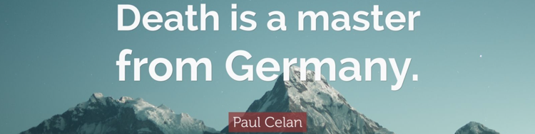 Paul Celan Quote Death is a master from Germany 7 wallpapers Quotefancy