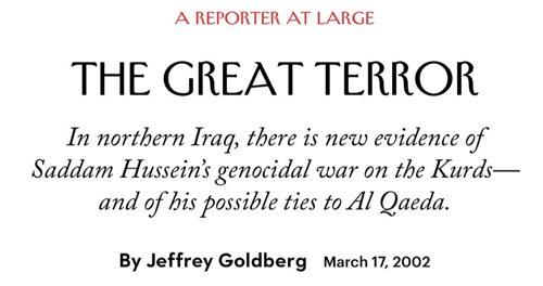 1 Parker Molloy on Twitter Also how tf does Jeffrey Goldberg have any job in media anymore let alone as the editor in chief of one of the remaining magazines in the country THANKS FOR THE WAR JEFF https t co C9dLdqaqhv Twitter