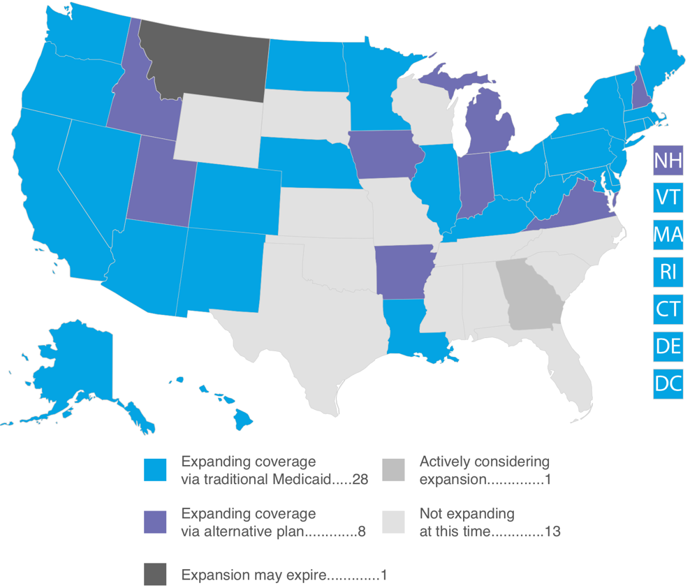 Where the states stand on Medicaid expansion The Advisory Board Daily Briefing