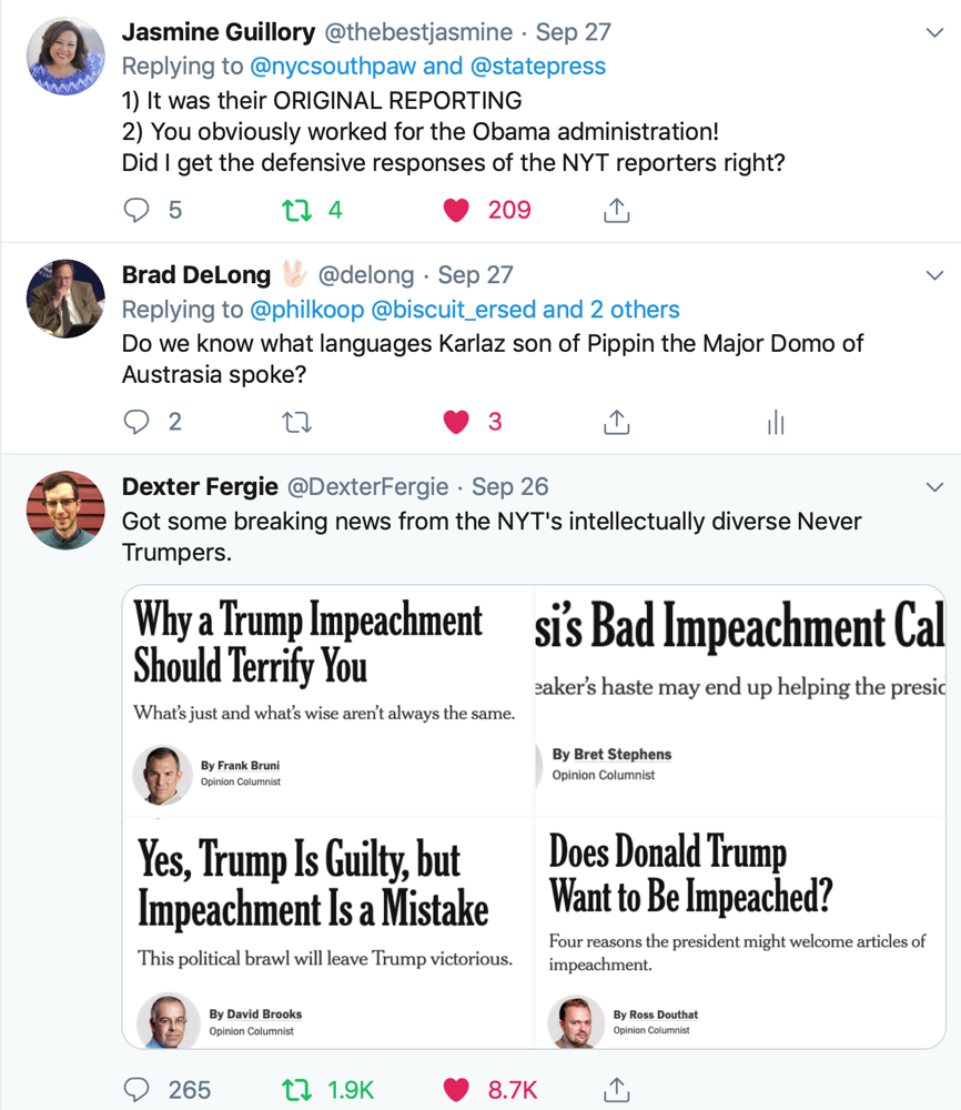 Banners and Alerts and 2 Tweets liked by Brad DeLong 🖖🏻 delong Twitter