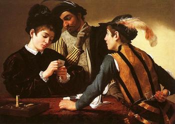 Caravaggio, The Cardsharps